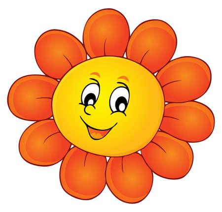 Happy flower head theme image Illustration