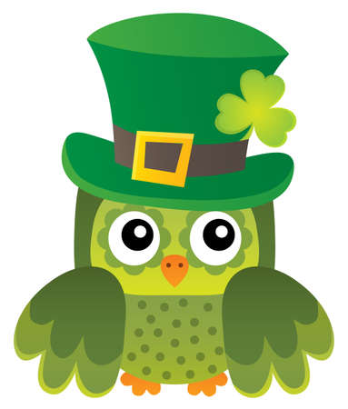 St Patricks Day theme with owl image 1 - eps10 vector illustration. Illustration