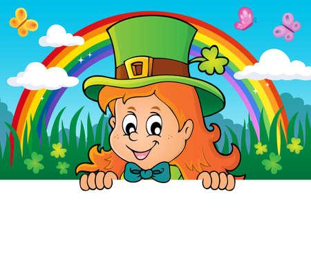 Lurking leprechaun girl theme