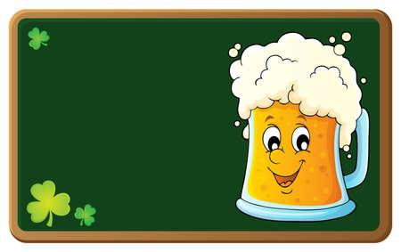 Beer theme image vector illustration.