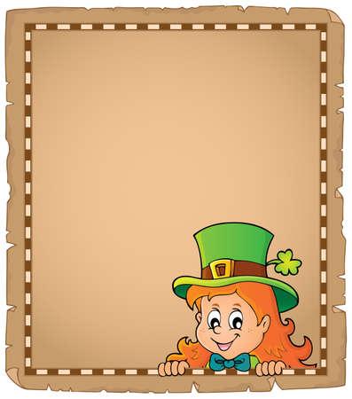 Lurking leprechaun girl parchment