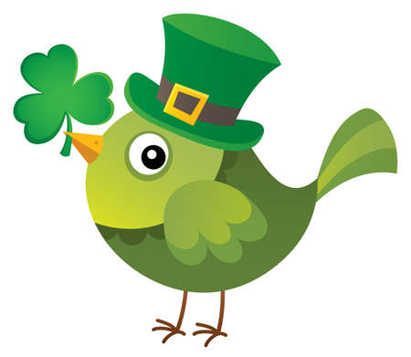 St Patricks Day theme with bird image Illustration