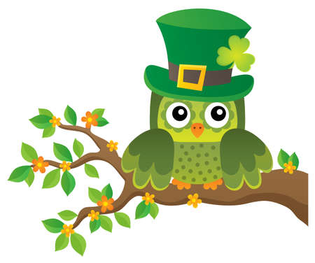 St Patricks Day theme with owl image