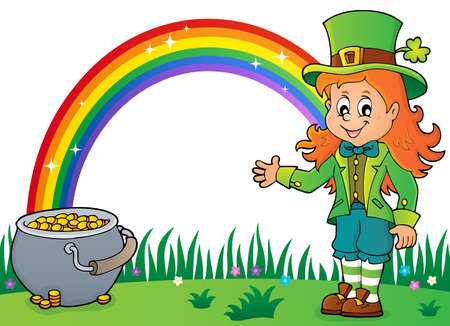 Leprechaun girl theme image