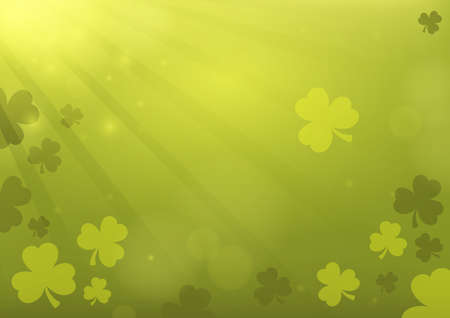 Three leaf clover abstract background