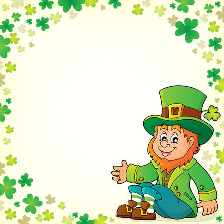 Sitting leprechaun theme image