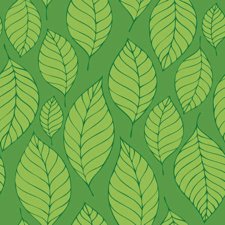 Leafy seamless background 8 - eps10 vector illustration.