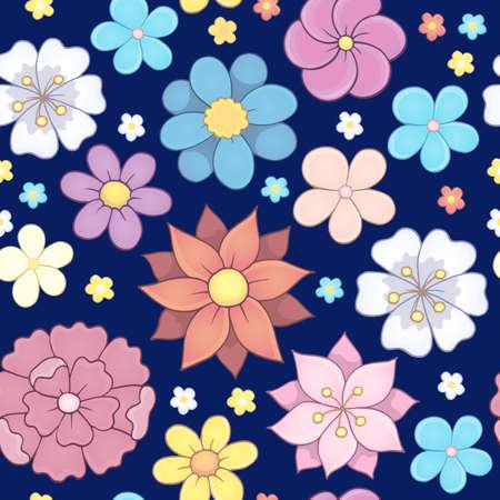 Seamless background flower theme 6 - eps10 vector illustration.