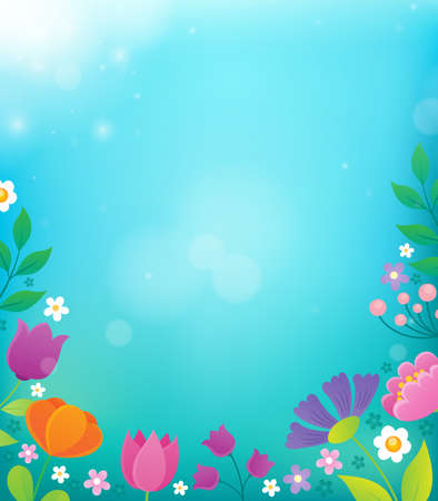 Flower topic background 2 - eps10 vector illustration. Illustration