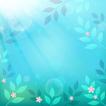 Spring thematics background 3 - eps10 vector illustration. Illustration