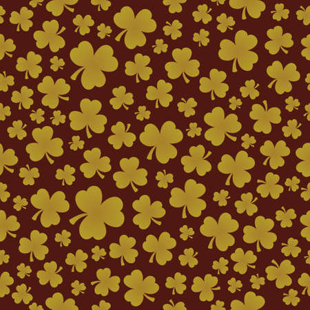 Three leaf clover seamless background 7 - eps10 vector illustration.