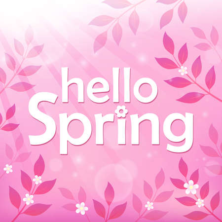 Hello spring theme image 8 - eps10 vector illustration. Illustration