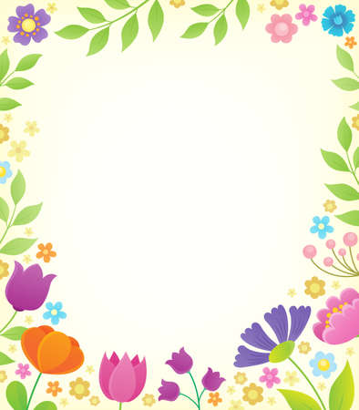 Flower topic background 1 - eps10 vector illustration.