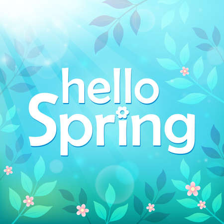 Hello spring theme image 7 - eps10 vector illustration.