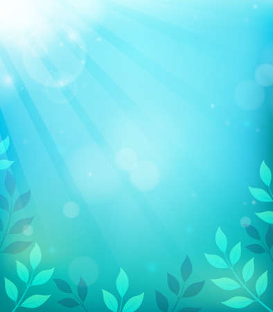 Spring thematic background Illustration