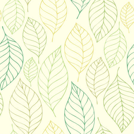 Leafy seamless background Illustration