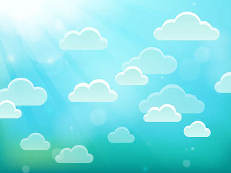 Clouds on sky theme vector illustration. Illustration