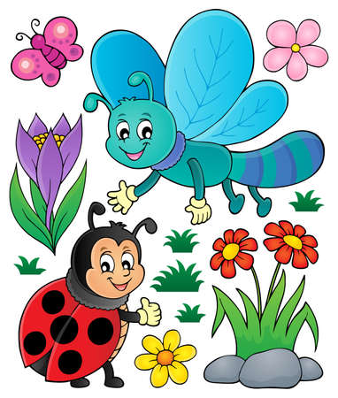 Spring nature theme set
