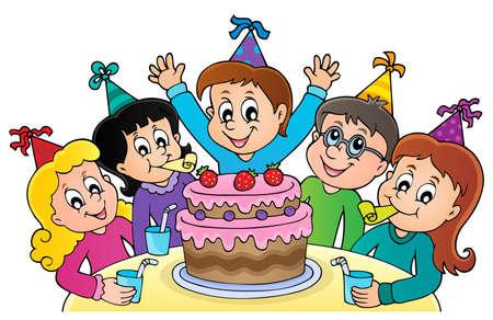 Kids party topic image 1 - eps10 vector illustration. Иллюстрация