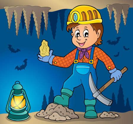 Miner theme image 3 - eps10 vector illustration.