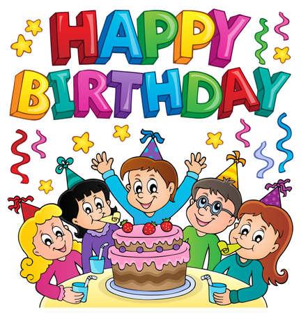 Happy birthday thematics image 5 - eps10 vector illustration.
