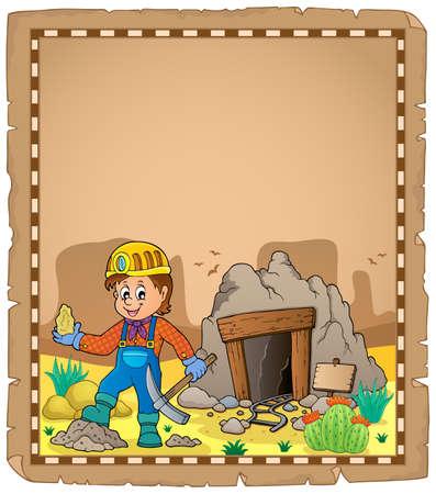 Miner theme parchment 2 - eps10 vector illustration. Illustration