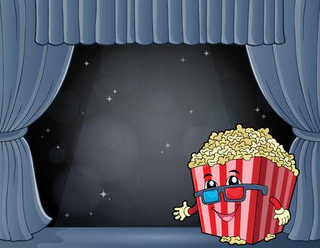 Stylized popcorn theme image 7 - eps10 vector illustration.