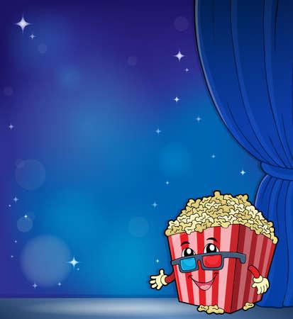 Stylized popcorn theme image 6 - eps10 vector illustration.