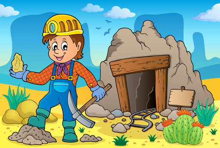 Miner theme image 2 - eps10 vector illustration. 版權商用圖片 - 99730514