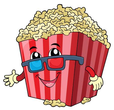 Stylized popcorn theme image 1 - eps10 vector illustration.