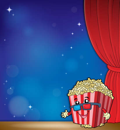 Stylized popcorn theme image 4 - eps10 vector illustration. Illustration