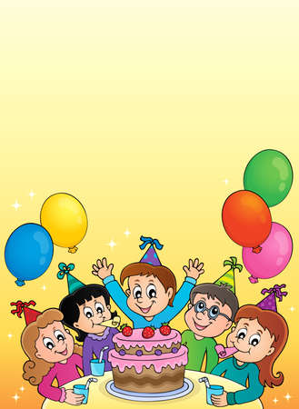 Kids party topic image 2 - eps10 vector illustration.