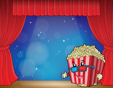 Stylized popcorn theme image - eps10 vector illustration.