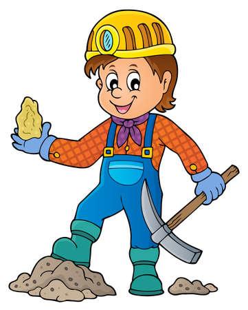 Miner theme image - eps10 vector illustration.