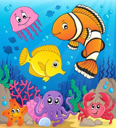Coral fauna theme image