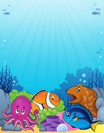 Coral fauna topic image 1 - eps10 vector illustration.