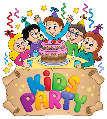 Kids party topic image 5 - eps10 vector illustration. Illustration