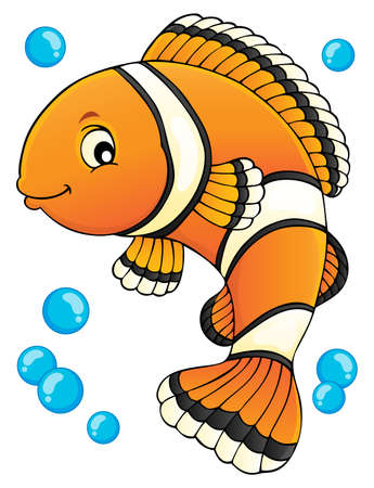 Clownfish topic image 1 - eps10 vector illustration. Illustration