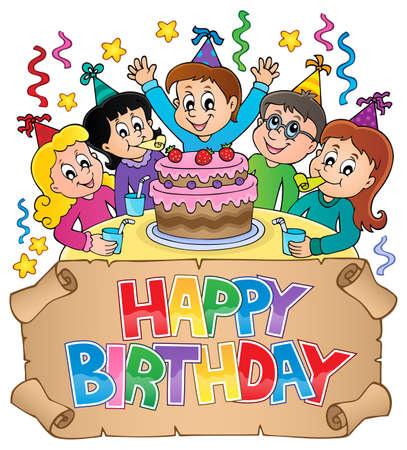 Happy birthday thematic image Illustration
