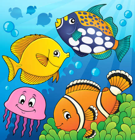 Coral reef fish theme image 9 - eps10 vector illustration.