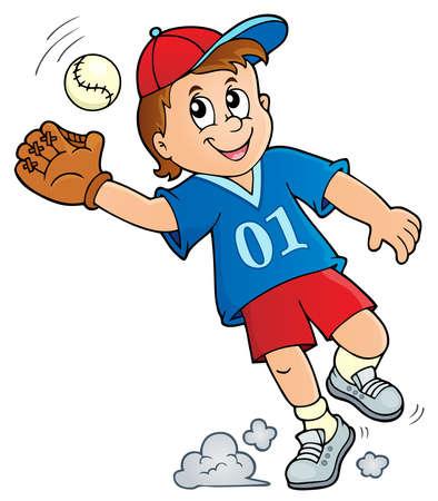 Baseball player theme image Illustration