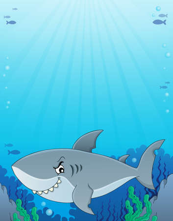 Shark topic image illustration.