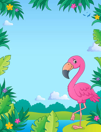 Flamingo topic image 2 - eps10 vector illustration.