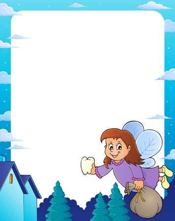 Tooth fairy theme frame