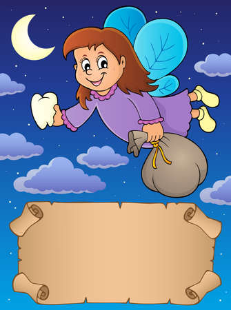 Small parchment and tooth fairy Illustration