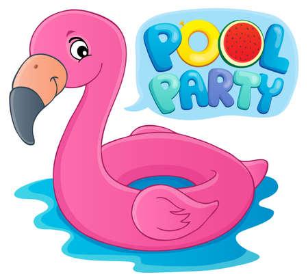 Pool party theme image