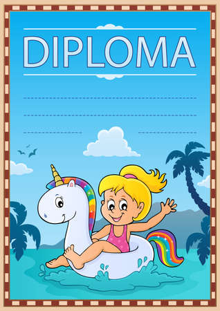 Diploma template image