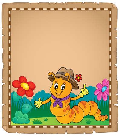 Happy caterpillar theme parchment