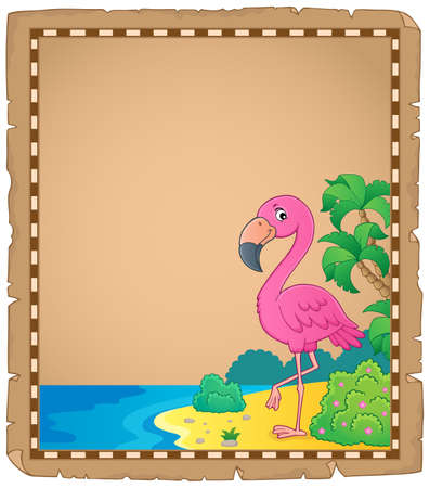 Flamingo topic parchment
