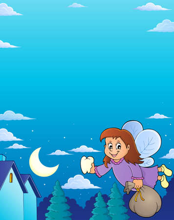 Tooth fairy theme image Illustration